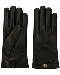 Gucci - Logo Plaque Gloves - Lyst