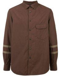 Ziggy Chen - Stripe Sleeve Shirt - Lyst
