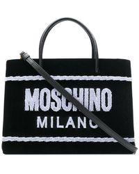 Moschino - Terry-flocked Velvet Tote - Lyst