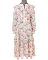 Junya Watanabe - Knitted Roll-neck Floral Dress - Lyst