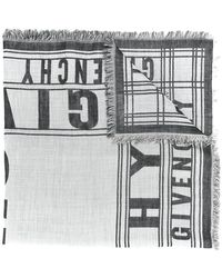 Givenchy   Logo Embroidered Scarf   Lyst