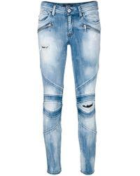 Just Cavalli - Skinny Biker Jeans - Lyst