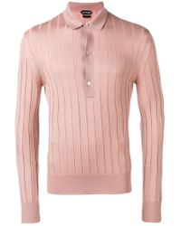 c1e4d81eecd Tom Ford - Ribbed Polo Shirt - Lyst