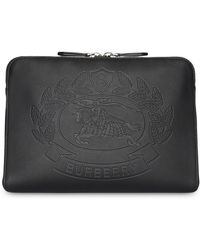 Burberry - Embossed Crest Leather Document Case - Lyst