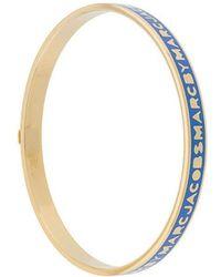 Marc Jacobs - Bracelet jonc à logo - Lyst