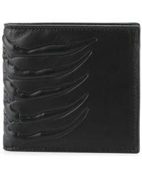 2af89825bfc Alexander McQueen - Ribcage Embossed Wallet - Lyst