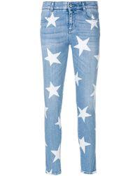 Stella McCartney - Star Print Skinny Jeans - Lyst
