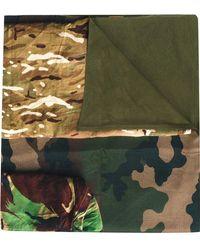 Pierre Louis Mascia - Camouflage Print Scarf - Lyst