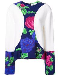 MSGM - Floral Print Detail Blouse - Lyst