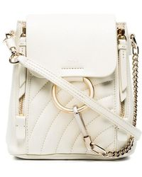 Chloé - White Faye Mini Quilted Leather Backpack - Lyst