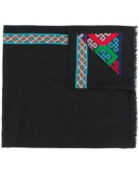 Etro - Embroidered Scarf - Lyst