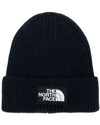 The North Face - Logo Patch Beanie Hat - Lyst