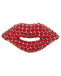 Sonia Rykiel - Embellished Lip Brooch - Lyst