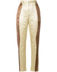 Bottega Veneta - Panelled High Waisted Trousers - Lyst