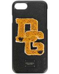 Dolce & Gabbana - Coque pour iPhone 7 à patch logo - Lyst