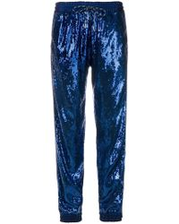 Christian Pellizzari - Sequin Embellished Track Trousers - Lyst