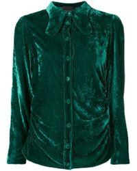 Erika Cavallini Semi Couture - Velvet Shirt - Lyst