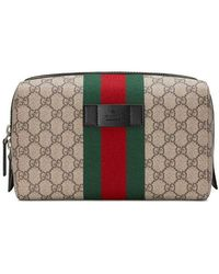 3627a4800ab4 Gucci Gg Supreme Toiletry Case in Natural for Men - Lyst