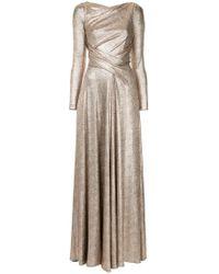 Talbot Runhof - Laminated Jersey Gown - Lyst