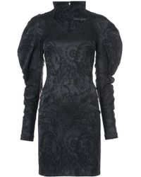 Rubin Singer - exaggerated Sleeve Jacquard Dress - Lyst