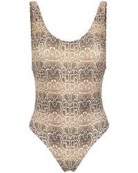 Amir Slama - Snake Print Swimsuit - Lyst