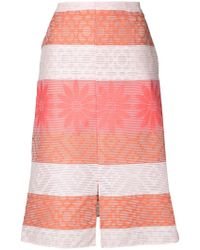 Julien David - Patterned A-line Skirt - Lyst