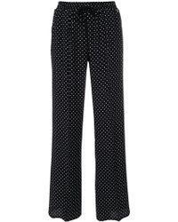 Twin Set - Straight Polka Dot Trousers - Lyst