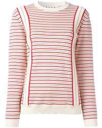 Marni   Striped Sweatshirt   Lyst