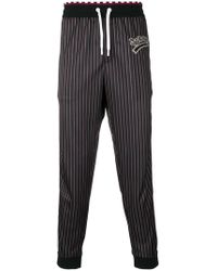 Versace - Team Logo Pinstripe Track Trousers - Lyst