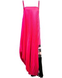 MILLY - Midi Pleated Dress - Lyst