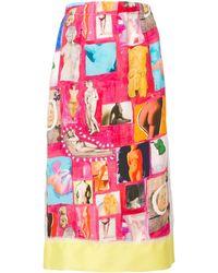 Marni Artistic Patch Skirt