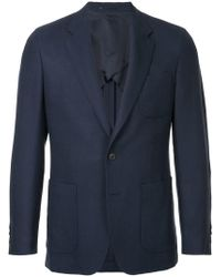 Gieves & Hawkes - Notched Lapel Blazer Jacket - Lyst