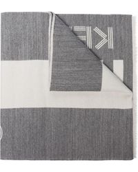 KENZO ロゴ スカーフ - グレー