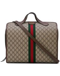 0ae31c0ddfeaa7 Gucci Large Carry-on Duffle Bag in Brown for Men - Lyst