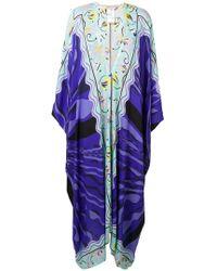 Emilio Pucci - Vestido con diseño de poncho y motivo - Lyst