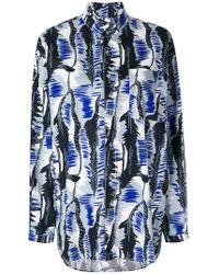 Marni - Patterned Mandarin Collar Shirt - Lyst