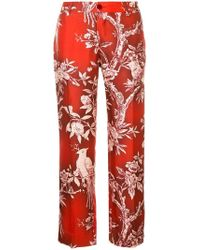 F.R.S For Restless Sleepers - Floral Print Cropped Trousers - Lyst