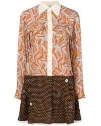 Chloé - Printed Flared Dress - Lyst