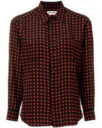 94f50e4996b Saint Laurent Leopard Print T-shirt in Brown - Lyst
