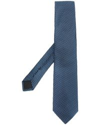 BOSS - Geometric Embroidered Tie - Lyst