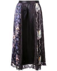 Jill Stuart - Floral Print Panels Skirt - Lyst