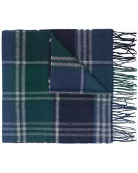 Barbour - Check Pattern Scarf - Lyst