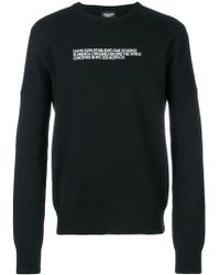 CALVIN KLEIN 205W39NYC - Slogan Knitted Jumper - Lyst