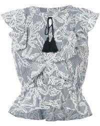 McGuire Denim | Striped Embroidered Top | Lyst