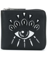 KENZO - Embroidered Eye Wallet - Lyst