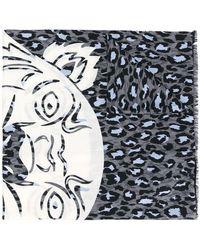 KENZO - Leopard Print Tiger Scarf - Lyst
