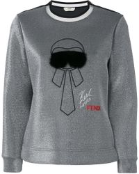 Fendi - Karlito Embroidered Sweatshirt - Lyst