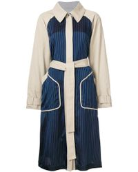 T By Alexander Wang - Belted Trench Coat - Lyst