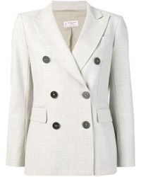 Alberto Biani - Double-breasted Suit Jacket - Lyst