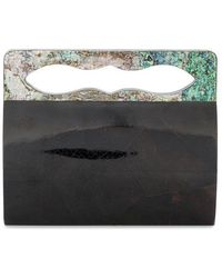 Nathalie Trad - Yves Shell Clutch With Mother Of Pearl Handles - Lyst